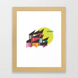 Houses of Colors Framed Art Print