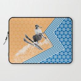 Ski Like a Girl Laptop Sleeve