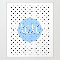 xoxo Art Prints featuring XOXO by Pati Designs