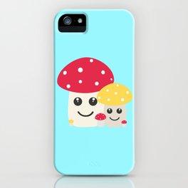 Cute colorful mushrooms iPhone Case