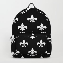 White royal lilies on a black background Backpack