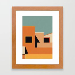 Summer Urban Landscape Framed Art Print