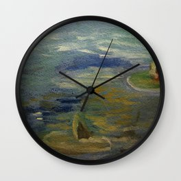 water lily impression Wall Clock