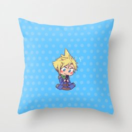Texting the bf Throw Pillow