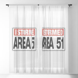 Area 51 TK421 Abandoned Post Sheer Curtain