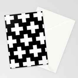 black-and-white pattern Yakshi Stationery Cards