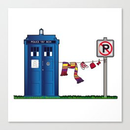Doctor Who: tardis wardrobe  Canvas Print