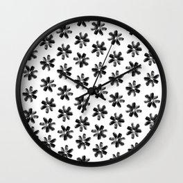 Sunflower Seeds Flowers Pattern Wall Clock