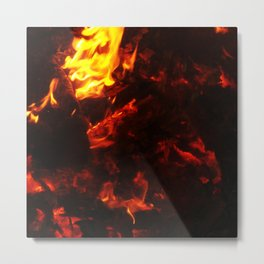Red Hot FIre Metal Print