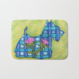 Scottish Terrier Silhouette Bath Mat