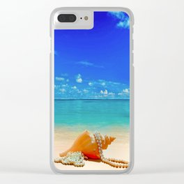 Seashell by Seashore Clear iPhone Case