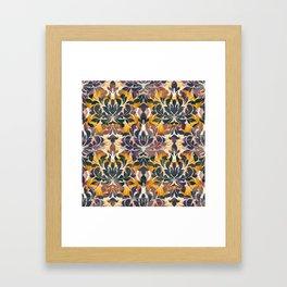 Boujee Boho Fall Collection Dramatic Fleur Framed Art Print