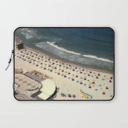 Tel-Aviv beach at summer, high from above, Israel, scaned sx-70 Polaroid Laptop Sleeve