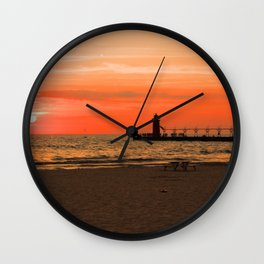 South Haven Sun Wall Clock