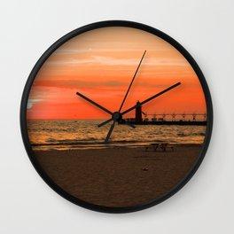South Haven Sun Wall Clock