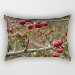 Hawthorn Berries Rectangular Pillow