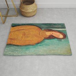 Amedeo Modigliani - Portrait of Jeanne Hébuterne Rug