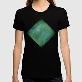 Looking into the depths of green T-shirt