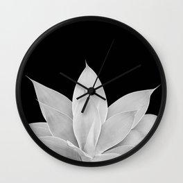 Gray Agave on Black #1 #tropical #decor #art #society6 Wall Clock