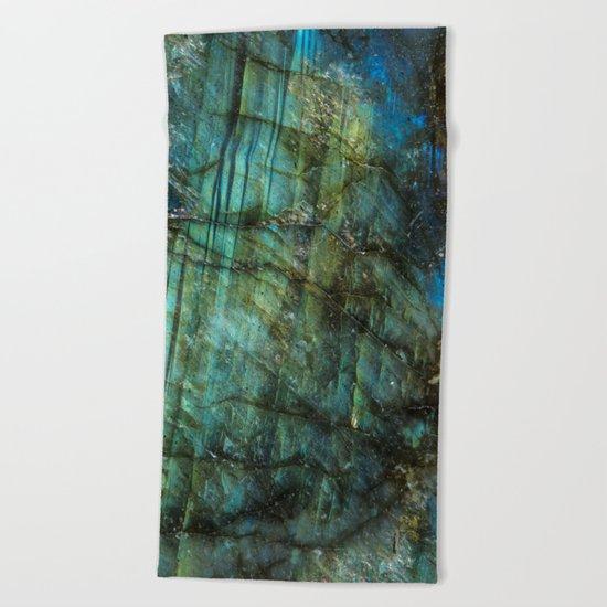 LABRADORITE TEAL Beach Towel