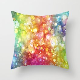 Rainbow of Lights Throw Pillow