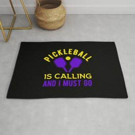 Funny Pickleball Quote Rug