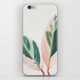 Pink Leaves I iPhone Skin