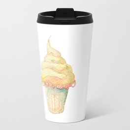 Ice Cream Yellow Travel Mug