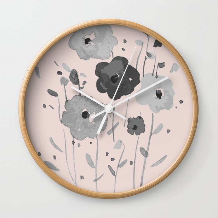Whimsical spring bloom Wall Clock