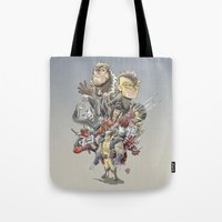 the mortal instruments Tote Bags featuring Mortal Enemies by Fernando Cano Zapata