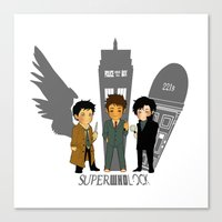 superwholock Canvas Prints featuring Superwholock 2 by littleartbot