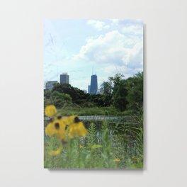 Garden View Metal Print