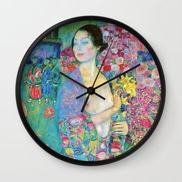 "Gustav Klimt ""The Dancer (formerly Rita Munk II))"" Wall Clock"