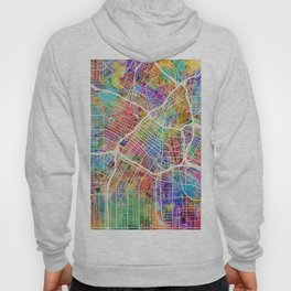 Los Angeles City Street Map Hoody
