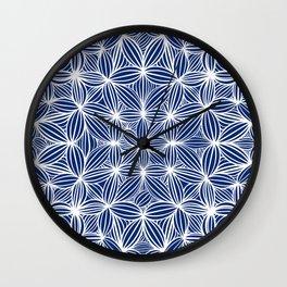 Blue night Wall Clock