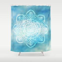 Blue Sky Mandala Shower Curtain