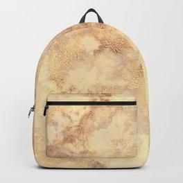 Elegant vintage faux gold boho chic marble Backpack