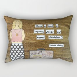 Twain Knows Rectangular Pillow