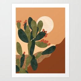 Prickly Pear Cactus Art Print