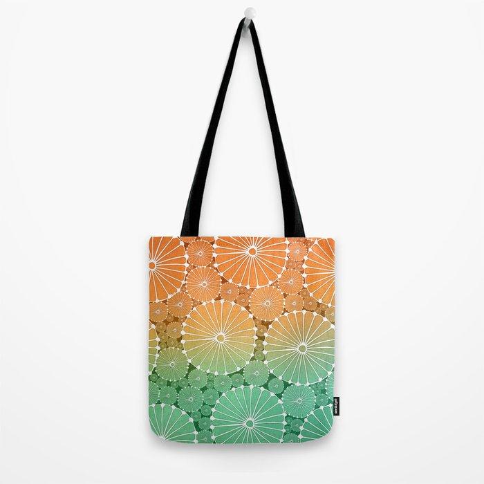 Abstract Floral Circles 7 Tote Bag