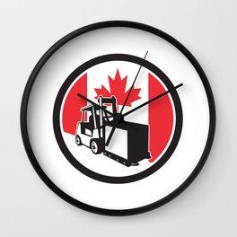 Canadian Logistics Canada Flag icon Wall Clock
