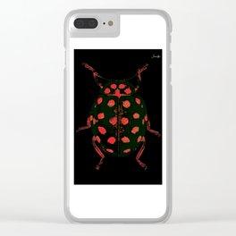 Insecte rouge et noir colors fashion Jacob's Paris Clear iPhone Case