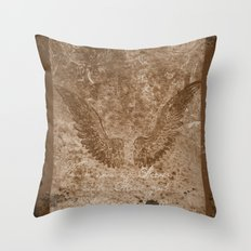 Vintage wings Throw Pillow