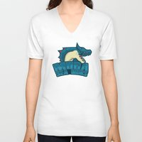 monster hunter V-neck T-shirts featuring Monster Hunter All Stars - Moga Sea Dogs by Bleached ink