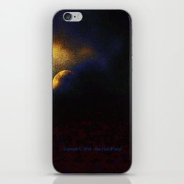 """Suspension Moon #120"" with poem:  No Poem iPhone Skin"