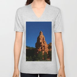 Red Rock Canyon Rockformation Unisex V-Neck