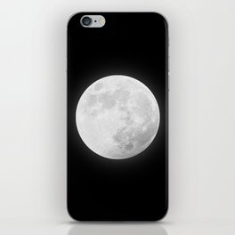 CHALK WHITE MOON iPhone Skin