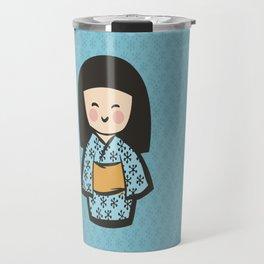 Geisha Dress Code (blue) Travel Mug