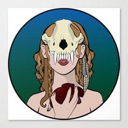 Skull Mask II Canvas Print