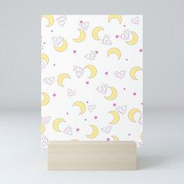 usagi bed pattern Mini Art Print